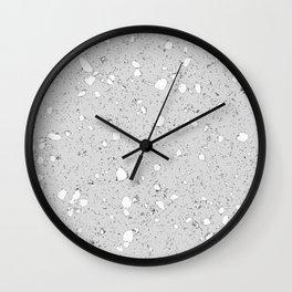 Terrazzo: grey Wall Clock