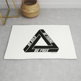 Penrose Triangle Rug