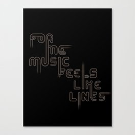 """Type and Music """"JAZZ MUSIC"""" Canvas Print"""