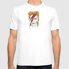 Bowie birthday card SMALL White Mens Fitted Tee