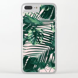 Tropical Jungle Leaves Siesta #3 #tropical #decor #art #society6 Clear iPhone Case