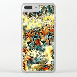 AnimalArt_Cheetah_20171004_by_JAMColorsSpecial Clear iPhone Case