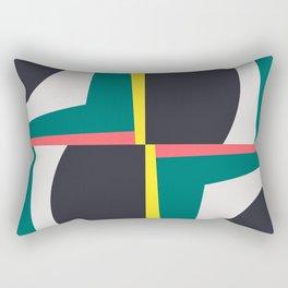 Modern Geometric 65 Green Rectangular Pillow