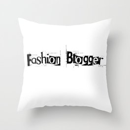 Fashion Blogger Typo Throw Pillow