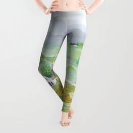 Anna Mary Robertson 'Grandma' Moses Mountains American Folk Art Leggings