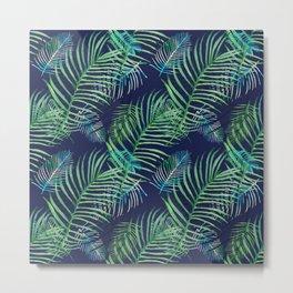 Palms in the night Metal Print