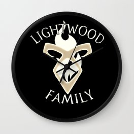 family lightwood Wall Clock