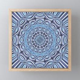 Blue mandala Framed Mini Art Print