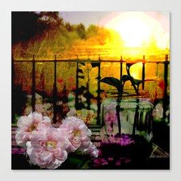 Sunset Balcony Canvas Print