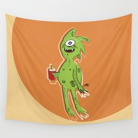 alien Wall Tapestries featuring Alien by Juan Carlos Campos