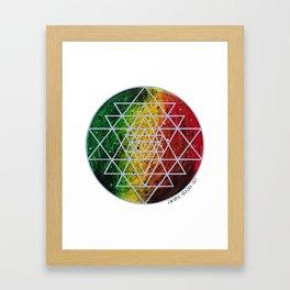 Rasta Planet with Sri Yantra Framed Art Print