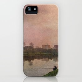 Fisherman (stylized watercolor) iPhone Case