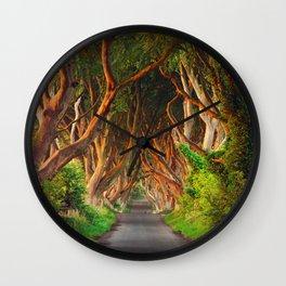 The Dark Hedges - County Antrim - Northern Ireland Wall Clock