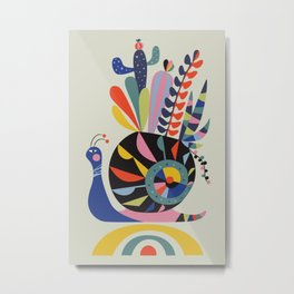 snail succulents Metal Print