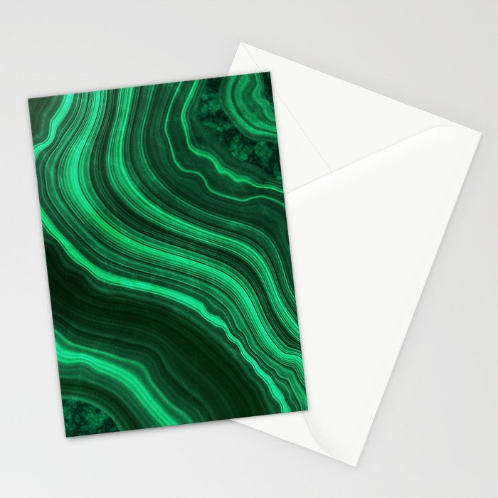 Malachite Texture 08 Stationery Cards