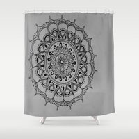 silent Shower Curtains featuring Silent by Katie Duker