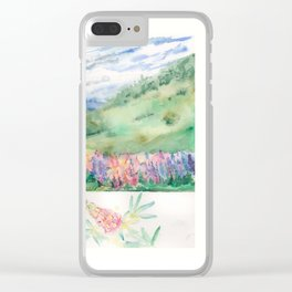 Lupins in the Mountains Clear iPhone Case