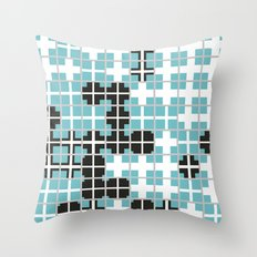 White Crosses Throw Pillow