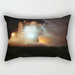 A-1 Test Stand Night Firing Rectangular Pillow