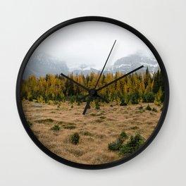Winter's Descent Wall Clock
