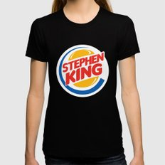 Stephen King LARGE Womens Fitted Tee Black