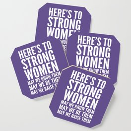 Here's to Strong Women (Ultra Violet) Coaster