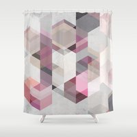 nordic Shower Curtains featuring Nordic Combination 22 Y by Mareike Böhmer