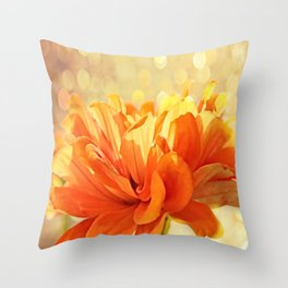 Glowing Marigold Throw Pillow