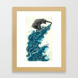 Self Serve/Surf Framed Art Print