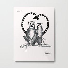 Lemur L'amur Metal Print