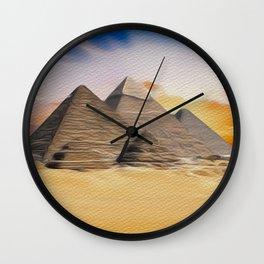 Great Pyramid of Giza, Egypt Wall Clock