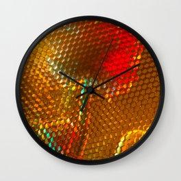 Floral Honeycomb Sunshine Wall Clock