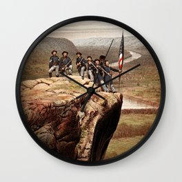 Union Soldiers On Lookout Mountain Wall Clock