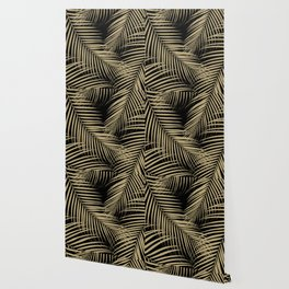 Palm Leaves - Gold Cali Vibes #5 #tropical #decor #art #society6 Wallpaper