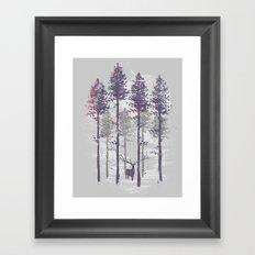 The trance of a deer Framed Art Print