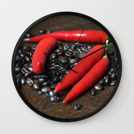 COFFEE and red CHILLI Wall Clock
