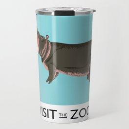 visit the zoo hippopotamus edition Travel Mug