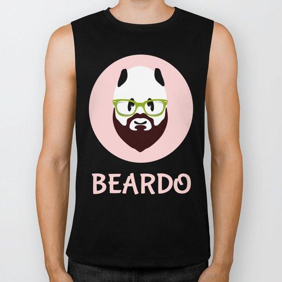 Beardo Panda with a Beard Biker Tank
