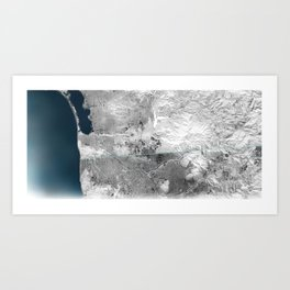 The Border Art Print