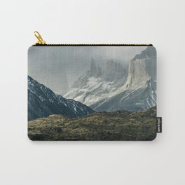 Menacing Mountain peaks with fog coming in Carry-All Pouch