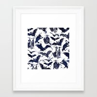 bats Framed Art Prints featuring BATS by DIVIDUS