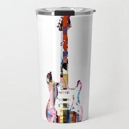 Electric Guitar   Magazine Strip Art Travel Mug