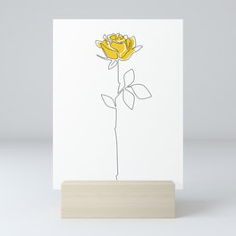 Lemon Rose Mini Art Print