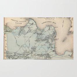 Map of East Hampton 1873 Rug