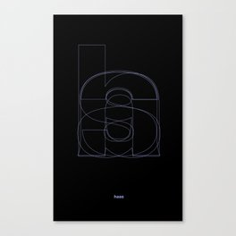 Die Neue Haas Grotesk (B-02) Canvas Print