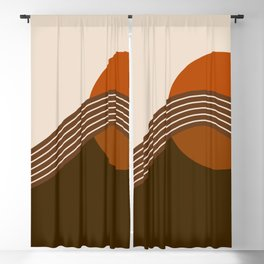 Cocoa Sundown Stripes Blackout Curtain