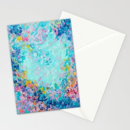Follow my heart, Abstract Painting Stationery Cards