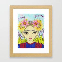 Flores de Frida Framed Art Print