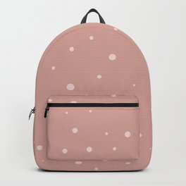 Muted Pink Polka Dots Backpack