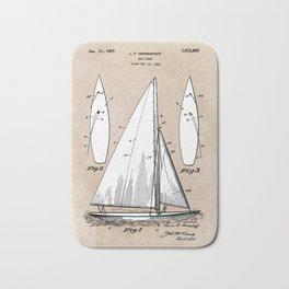patent art Herreshoff  Sail Boat 1925 Bath Mat